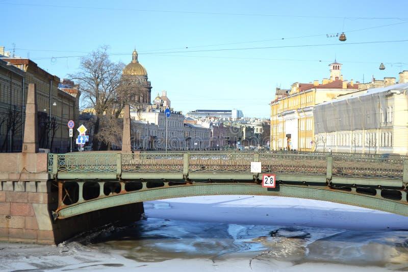 Download Potseluev Bridge On Moyka River Stock Image - Image: 30045429