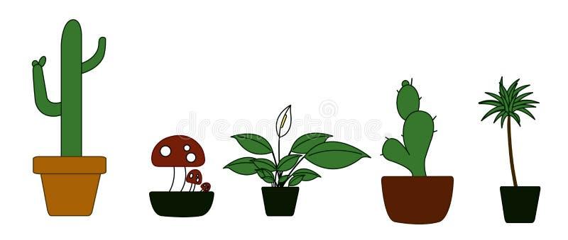 Download Potted Plant Illustration stock vector. Illustration of five - 10060713