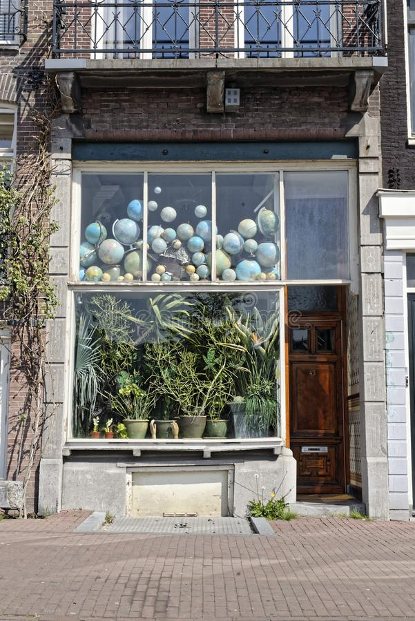 Store front in Amsterdam, Holland royalty free stock photography