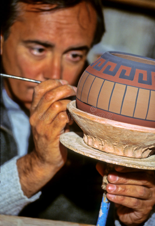 Pottenbakker Peru royalty-vrije stock foto