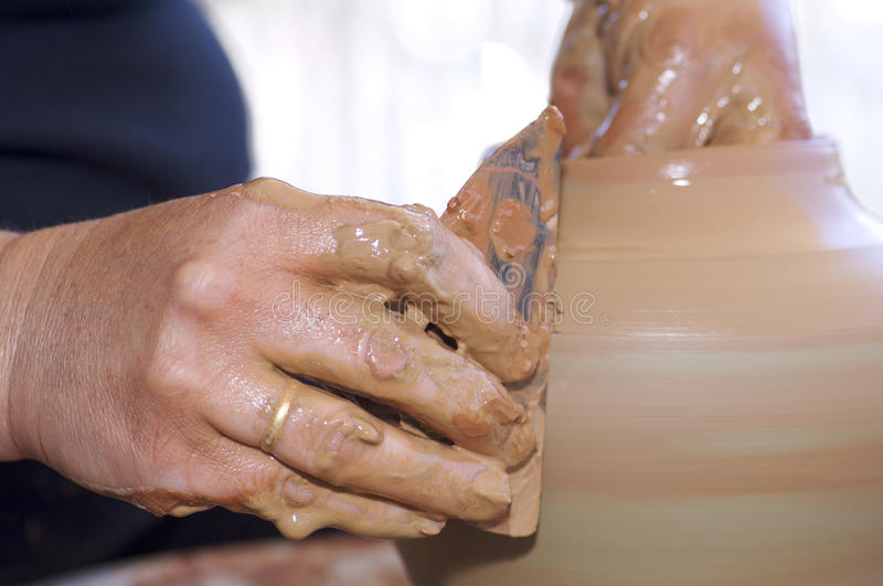 Download Potter stock photo. Image of artisan, forefront, mole - 23833870