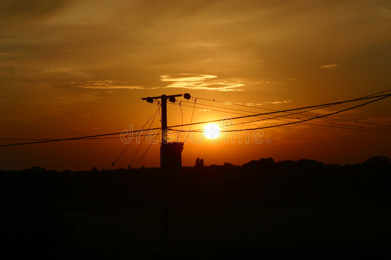 Download Potter Heigham sunset stock image. Image of power, broads - 44401