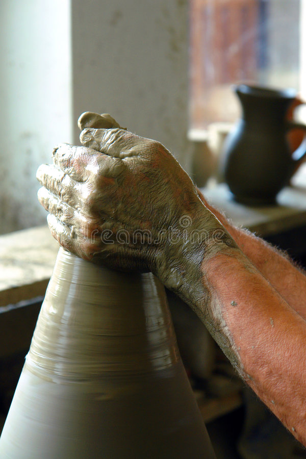 Download POTTER,S HANDS stock image. Image of vases, clays, potters - 1087449