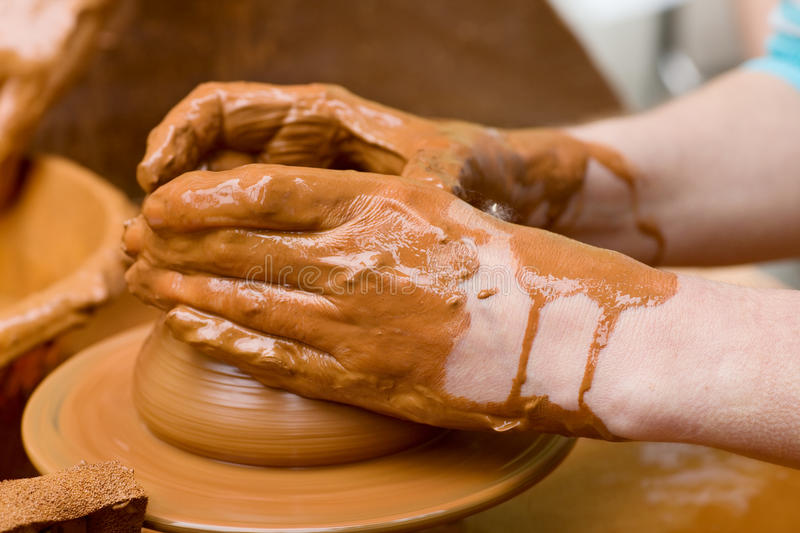 Download Potter's Hands stock image. Image of clay, crafting, loam - 24038969