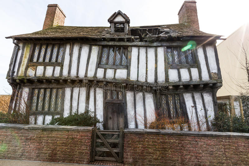 Potter' s-stuga i Godric' s-fördjupning royaltyfri fotografi