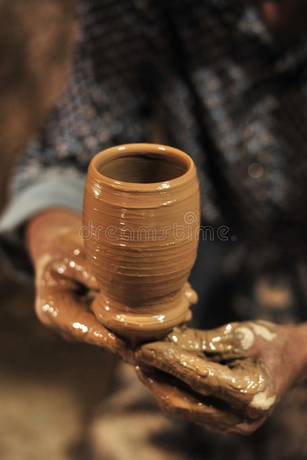 A potter was working â…¦ stock photos