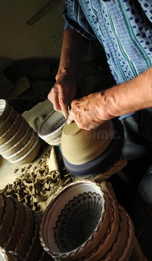 Potter at work royalty free stock photography