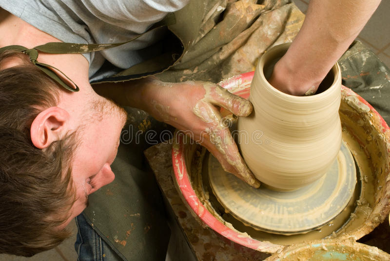 Potter Working Stock Photos
