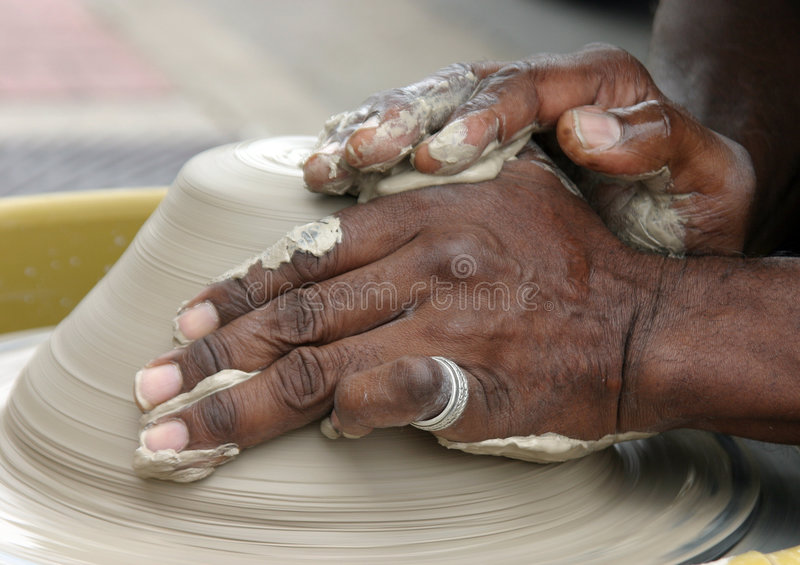 Potters Hands royalty free stock photography