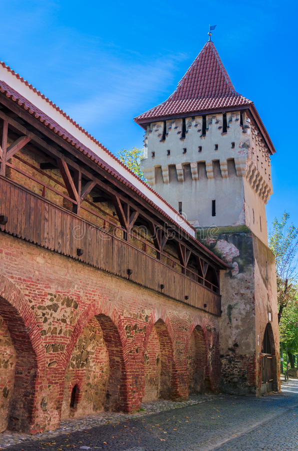 Potters tower Sibiu (Hermannstadt) stock photography