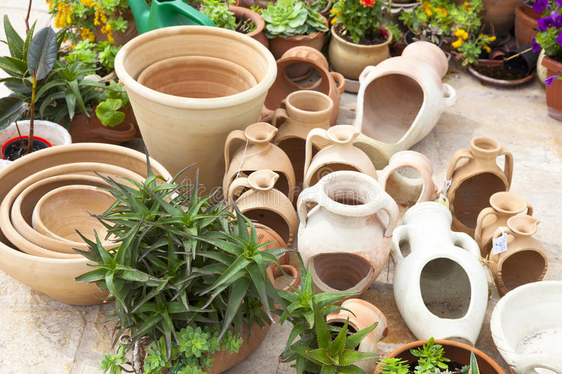 Download Pottery stock image. Image of dried, container, gardening - 19490081
