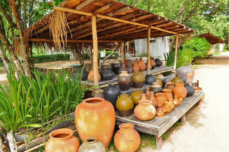 Download Pottery stock image. Image of thai, pottery, decorate - 21373155