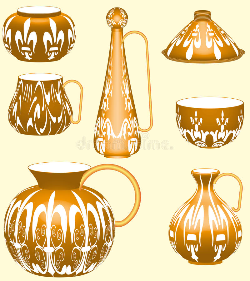 Pottery Collection Royalty Free Stock Images