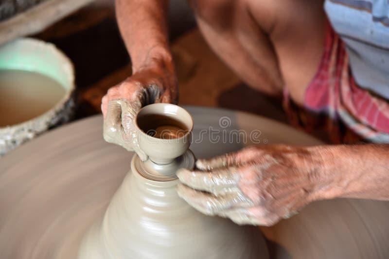 Clay Pottery Maker stock photo