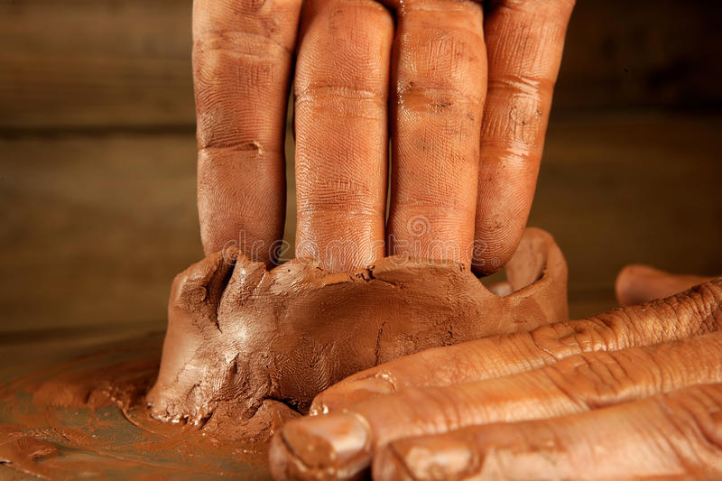 Download Pottery Craftmanship Clay Pottery Hands Work Stock Image - Image: 15917537