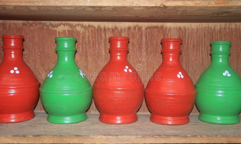 Pottery Handicraft In Kashmir. stock photo