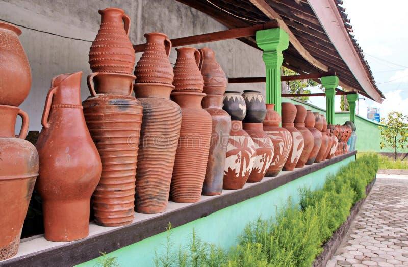 Pottery of Lombok, Indonesia stock photo