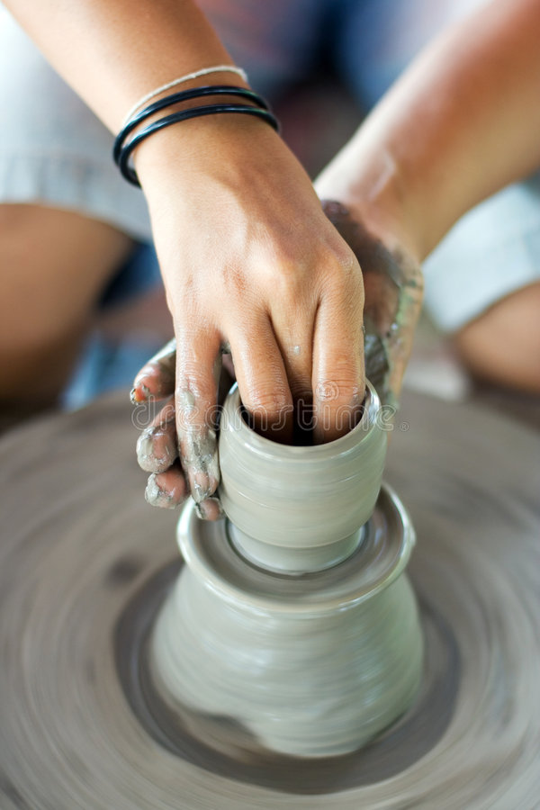 Download Pottery making stock photo. Image of throwing, culture - 7657734