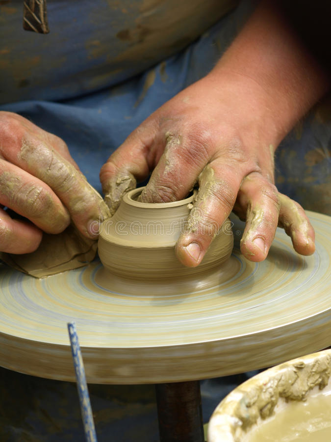 Pottery making royalty free stock photos