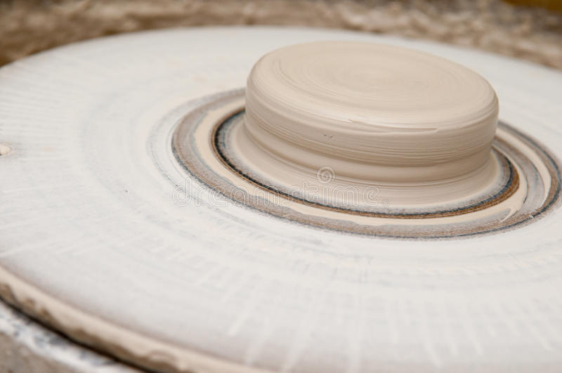 Pottery making wheel royalty free stock images