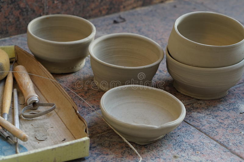 Pottery studio stock image