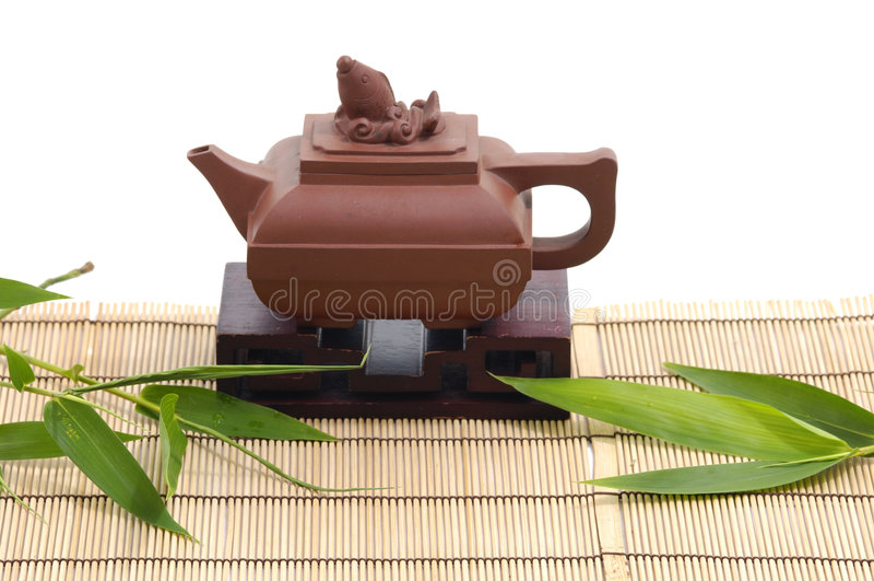 Pottery tea service stock photography