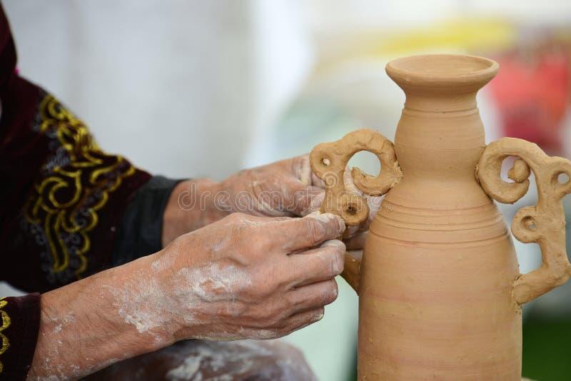 Pottery training. royalty free stock photo