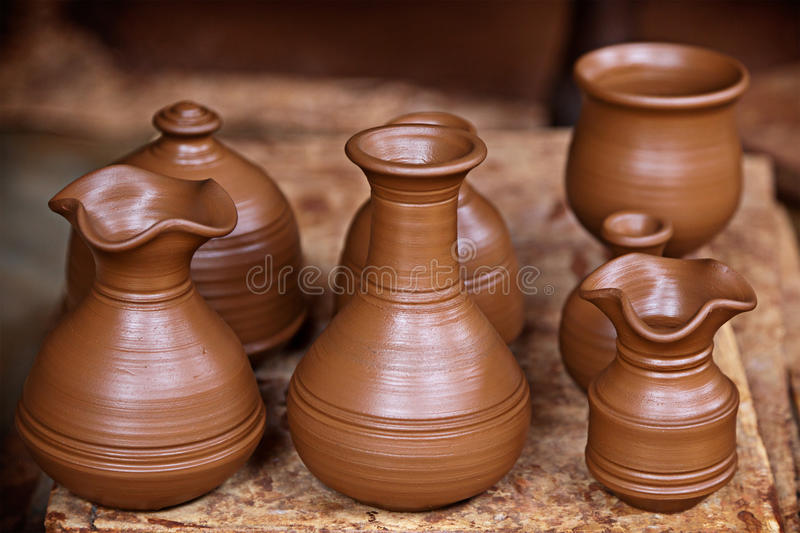 Download Pottery vases stock image. Image of crafted, vase, brown - 22231453