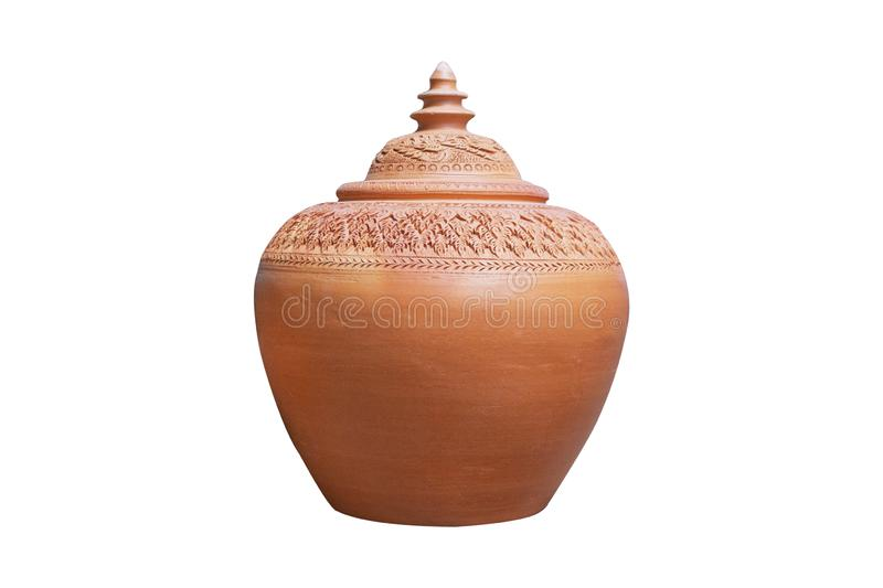 Pottery for water home Hand-made pottery royalty free stock photo