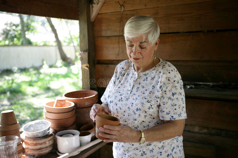 In The Potting Shed stock photography