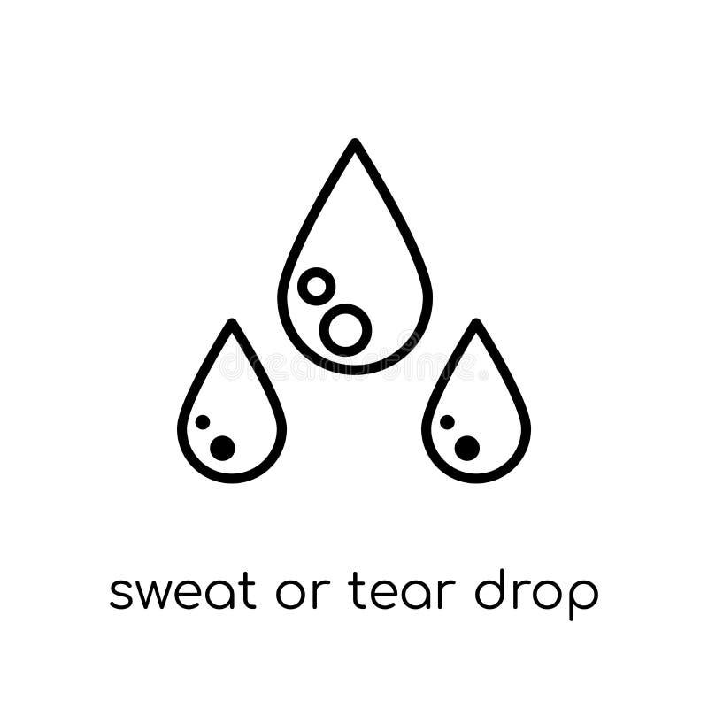 Potu lub łzy opadowa ikona Modny nowożytny płaski liniowy wektoru pot ilustracja wektor