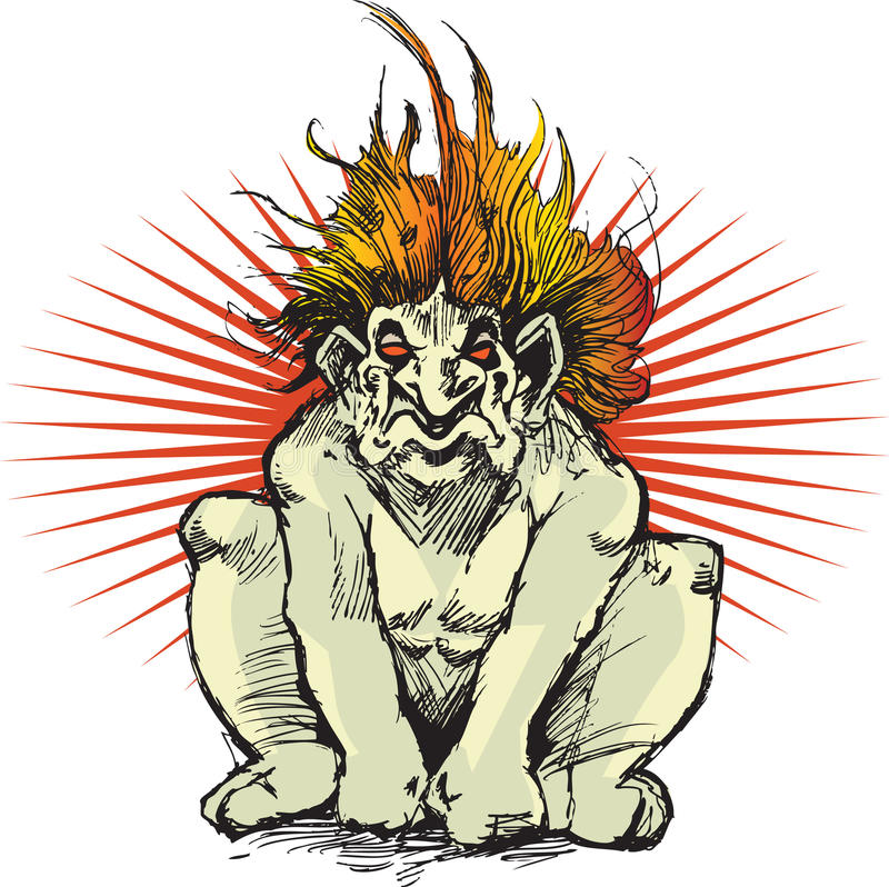 potwór błyszczka ilustracja wektor