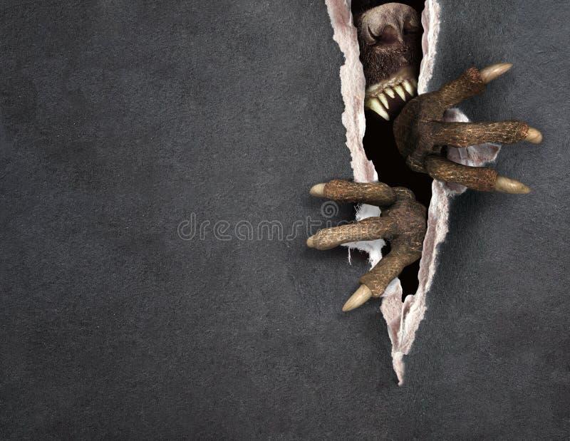 Potwór drzeje papier ilustracji