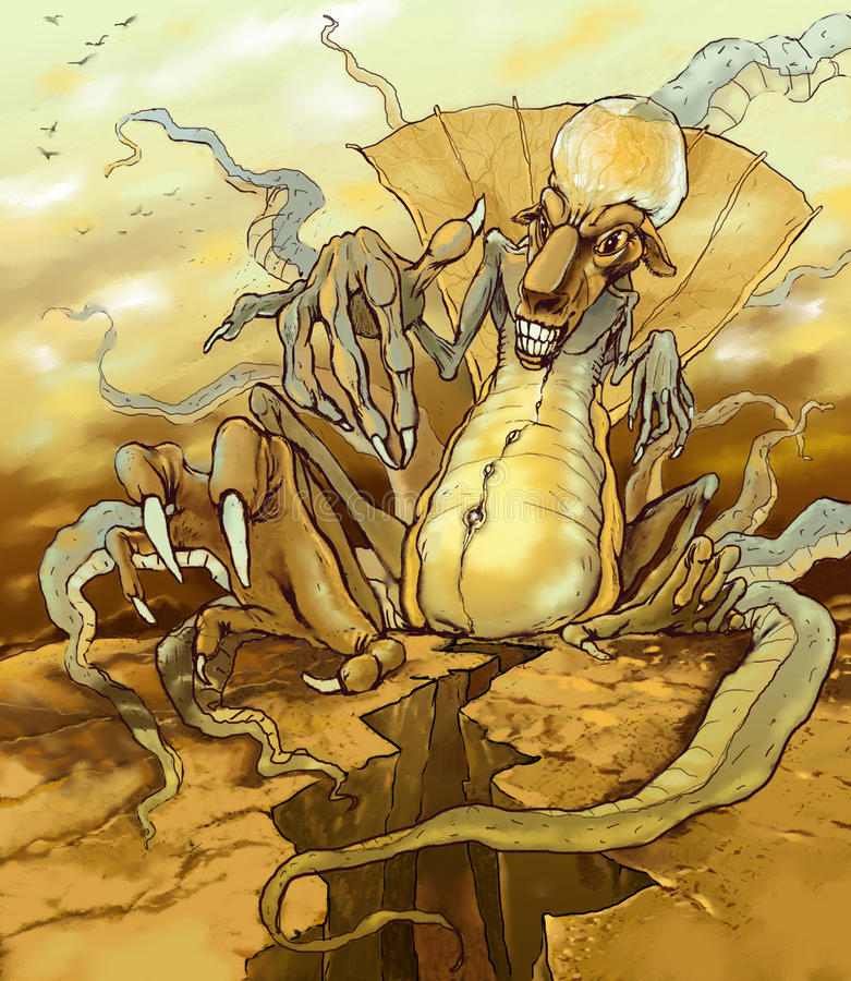 Potwór na Mars ilustracji