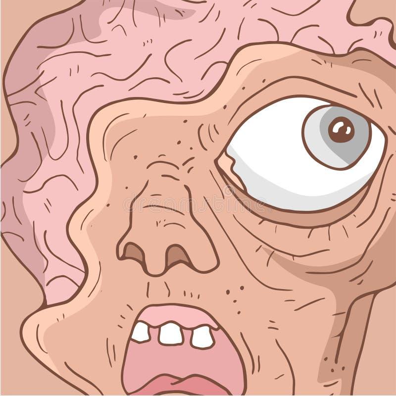 Potwór twarz ilustracji