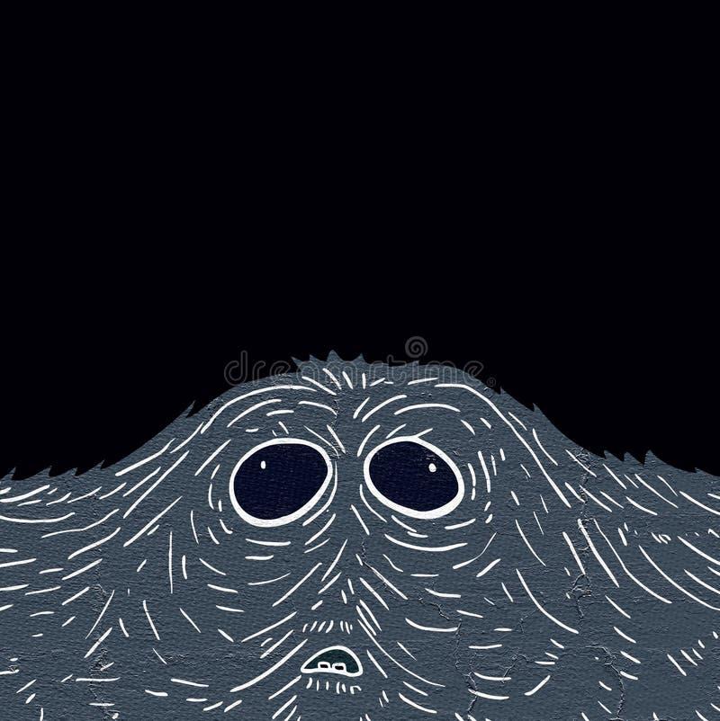 Potwór twarz ilustracja wektor