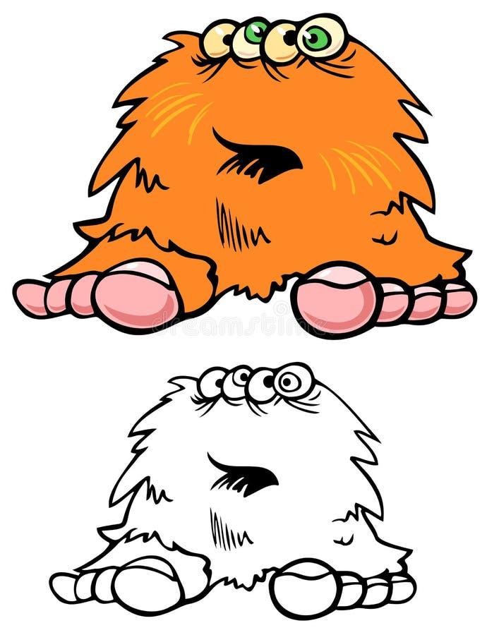 Potwora Hairball ilustracja wektor