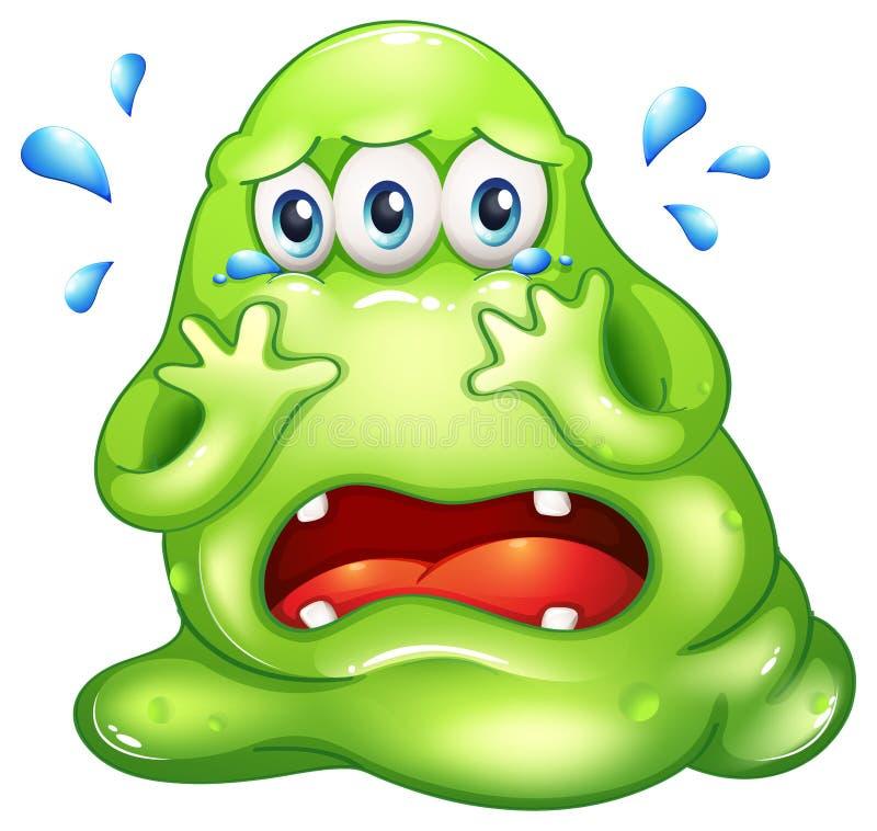 Potwora płacz ilustracja wektor