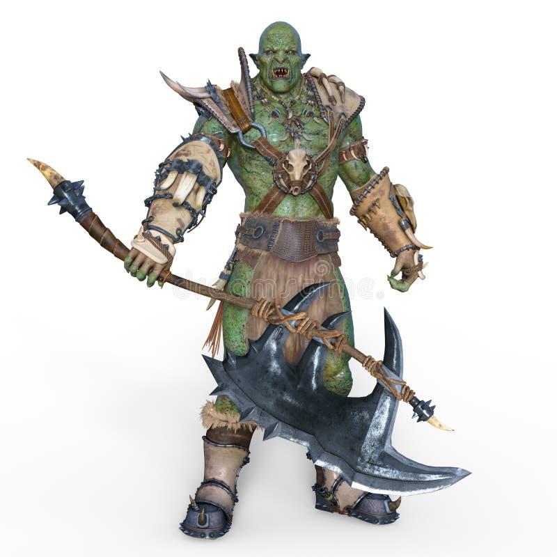 Potwora wojownik royalty ilustracja