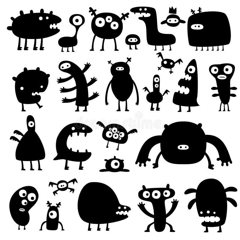 potwory royalty ilustracja