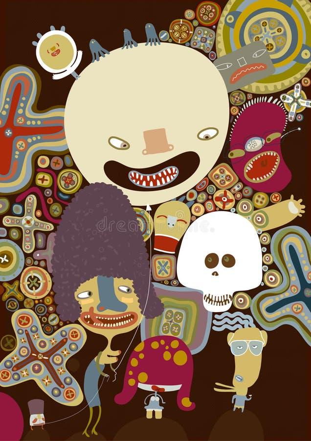 potwory plakatowi brown ilustracji