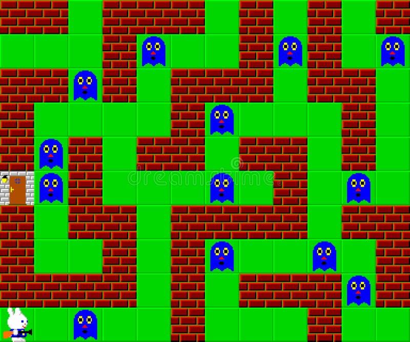 Potwory, retro stylowa gra pixelated grafika ilustracja wektor