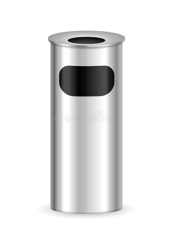 Poubelle de cendrier illustration de vecteur