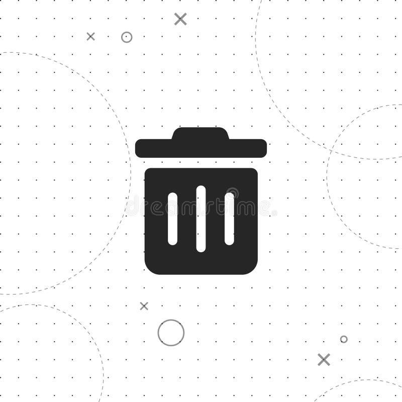 Poubelle, icône de vecteur de poubelle illustration de vecteur