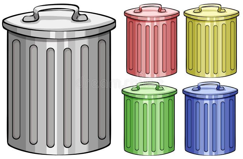 Poubelles illustration stock