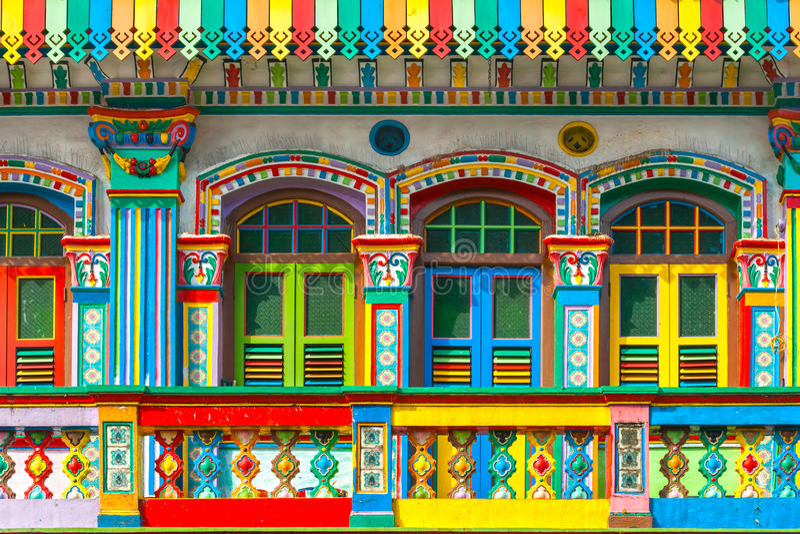 Pouca Índia, Singapura imagem de stock