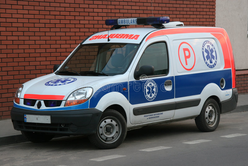 Pouca ambulância foto de stock
