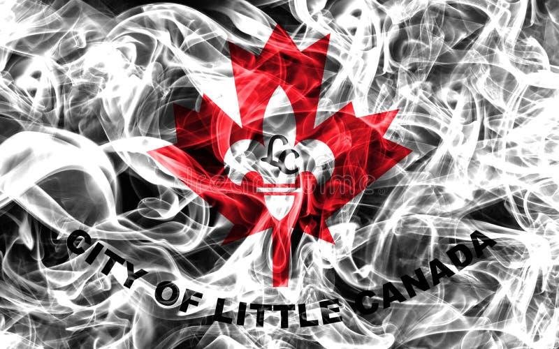 Pouca bandeira do fumo da cidade de Canadá, estado de Minnesota, Estados Unidos de foto de stock