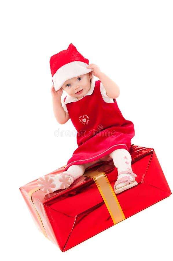 Pouca bebê-menina do Natal fotografia de stock