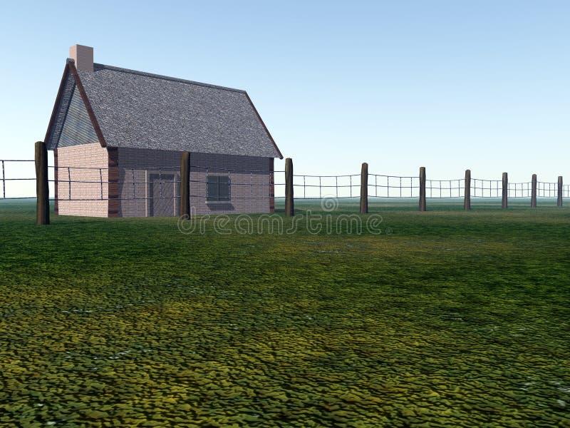 Pouca casa no campo 2 ilustração royalty free